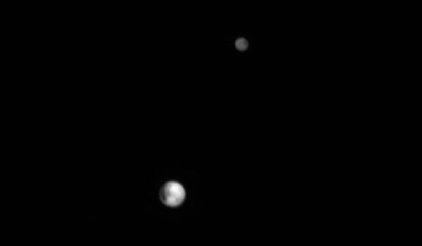 Pluto and Charon as seen by New Horizons' LORRI camera on June 25, 2015