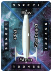 Image Platinum Starship Poker-Sized Card -- 6 Power Settings on each Ship Side: Bow, Port, Stern, and Starboard